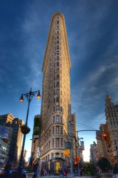 another angle - flatiron bldg in new york city