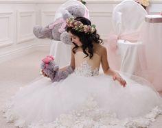 Chiffon Flower Girl Dress Birthday Wedding by Butterflydressua