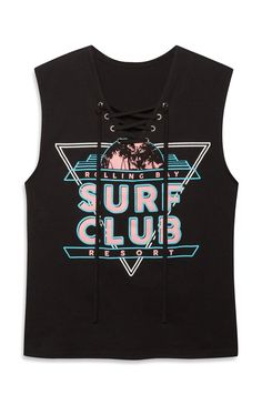 Surf Club Lace Up Vest Top, Primark, The Mall Luton