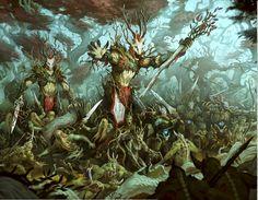 http://wellofeternitypl.blogspot.com Age of Sigmar Artwork   Sylvaneth vs Nurgle   #artwork #art #aos #warhammer #ageofsigmar #sigmar #arts #artworks #gw #gamesworkshop #wellofeternity #wargaming