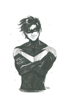 Nightwing by Babs Tarr. Damian Wayne, Comic Book Artists, Comic Books, Babs Tarr, Nightwing And Batgirl, Richard Grayson, Batman Universe, Dc Universe, Bat Boys