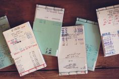 Library card notebooks (made from vintage library cards)