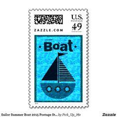 Sailor Summer Boat 2015 Postage Stamps