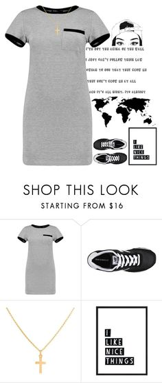 """""""Untitled #70"""" by lady-art-divergent ❤ liked on Polyvore featuring Boohoo, New Balance and Sterling Essentials"""