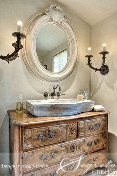 """Secrets of Segreto - Segreto Secrets Blog - Elegant Country French.  """"I sell similar beautiful chests & sideboards like this--- they are very popular & adaptable as bath vanity sinks"""" Carolyn Williams, Antiques & Interiors, Atlanta & Roswell, GA"""