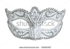 stock photo : Carnival mask. Isolated on white.