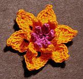 Crochet Orchid (free pattern)