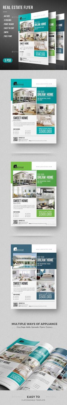 PSD Real Estate Flyer Design Template Download https://graphicriver.net/item/real-estate-flyer/19253304?ref=themedevisers #realestate