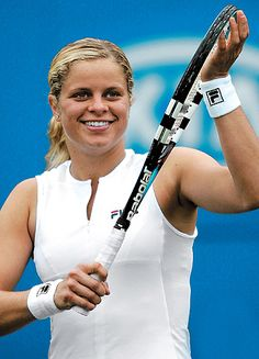 Kim Clijsters is the daughter of a successful  footballer, Lei Clijsters, and a national gymnastics champion, Els  Vandecaetsbeek. Description from sportsstarsa2z.blogspot.com. I searched for this on bing.com/images