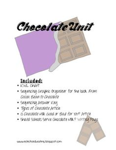 Chocolate Reading Activities $2 Reading Activities, Toddler Activities, Chocolate Day, Theme Days, Any Book, Graphic Organizers, Reading Comprehension, Speech Therapy, Fun Things