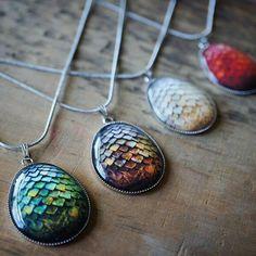 Dragon egg pendants