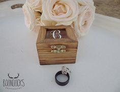 Rustic Ring Box Monogrammed Ring Box Wood by DownInTheBoondocks