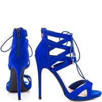 Luxe by JustFab // Cleora Cobalt Blue Heels