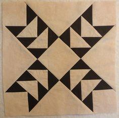 basic black n white star design...love