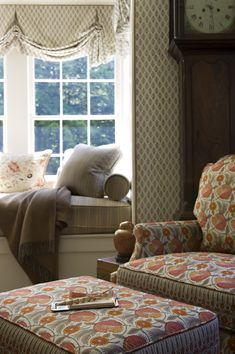 Asking Marty to build me a window seat for my birthday. Cathy Kincaid Interiors | Connecticut Interior