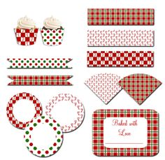 Candy Canes and Plaid Holiday Printable Party by celebrateinprint, $12.75