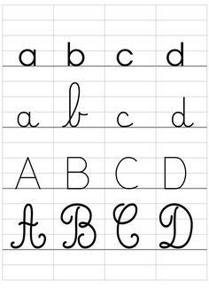 Affichage Alphabet avec la police DUMONT - La classe de Luccia ! Zoo Phonics, Calligraphy Worksheet, Pretty Handwriting, Kids Writing, English Lessons, Lettering, Alphabet A, Tortellini, Journaling