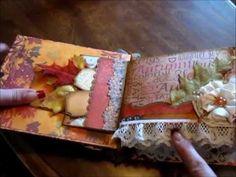 Autumn Paper Bag Mini Album p.1. Beverly don't watch!!!