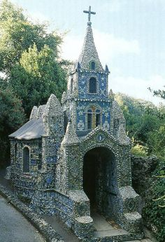 A work of art and a labour of love, the Little Chapel is possibly the smallest chapel in the world. It was built by Brother Déodat who started work in March 1914. The Little Chapel, Guernsey.
