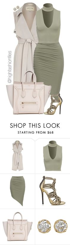 """Untitled #2243"" by highfashionfiles ❤ liked on Polyvore featuring River Island, Jimmy Choo and Hoorsenbuhs"