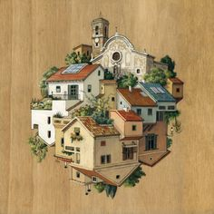 Barcelona-based illustrator Cinta Vidal Agulló turns architectural drawing on its head with these surreal urban landscapes that reflect the idea that we all li