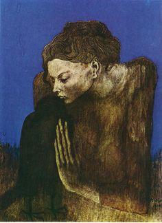 La mujer de la corneja - Pablo Ruiz Picasso