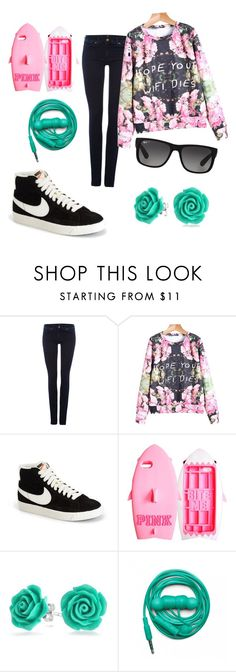 """Hope Your Wifi Dies"" by geekygal2003 ❤ liked on Polyvore featuring 7 For All Mankind, NIKE, Victoria's Secret, Bling Jewelry, Urbanears, Ray-Ban, women's clothing, women's fashion, women and female"