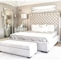 Romantic Master Bedroom Design Ideas - Home Decor Ideas Simple Bedroom Design, Luxury Bedroom Design, Master Bedroom Design, Home Decor Bedroom, Interior Design, Bedroom Designs, Master Suite, Bedroom Plants, Bedroom Retreat