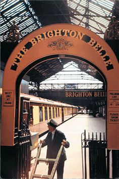 The Brighton Belle Arch at London Victoria 1958. The famous electric Pullman train is being brought back to the mainline next year in April 2016. The Brighton Belle was the flagship of a massive electrification programme for Southern Railway, kick-started in 1929 by Chancellor Winston Churchill's attempts to boost employment in post-Wall Street Crash Britain.