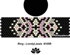 peyote ring pattern,PDF-Download, #105R, peyote ring beading pattern, beading tutorials, ring pattern, ring turorial miyuki
