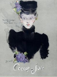 Nina Ricci Parfums 1945 -  Coeur-joie - Illustrateur Christian Bérard
