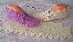 çeyizlik patik modeli / kolay patik modeli / iki şişle ajurlu patik modeli – … - ropa, vacaciones y más Crochet Baby Jacket, Crochet Boots, Knit Crochet, Knitting Socks, Baby Knitting, Honeycomb Stitch, Knitting Patterns, Knitted Slippers, Crochet Slippers
