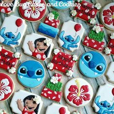 Lilo and Stitch! (not for sale)  #birthday #hawaii #flowers #lovebugcookies #decoratedcookies #loudouncounty #leesburg #southriding #ashburn #gifts #cookieart #cute #cookies #pretty #cookieclasses #cookiedecoratingclass #loudouncountyactivity #lovebugstudio
