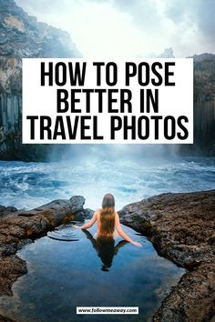 How To Pose Better In Travel Photos   guide to posing in travel photos   tips and tricks for travel photos   how to take better travel selfies   tips for taking the best photos   how to take the best travel selfies   how to take the perfect self portrait   tips for posing in self portraits #posing #travelphotos Best Photography Blogs, Amazing Photography, Travel Photography, Photography Settings, Photography Basics, Photography Ideas, Travel Pictures, Travel Photos, Travel Tips