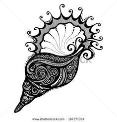 Vector Abstract Sea Shell. Patterned design by IrinaKrivoruchko, via Shutterstock