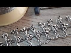 BONCUKLU ŞAHANE ÇATAL OYASI 😘😘😘 - YouTube Crochet Lace Edging, Crochet Stitches, Crochet Accessories, Baby Accessories, Needle Lace, Costume, Scarf Styles, Hair Pins, Beads