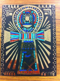 EGYPT graders who finished there work early got to make an Egyptian amulet in gold scratch art paper. They added detail with acrylic paints. Ancient Egypt Art, Ancient Greece, 2nd Grade Art, Sixth Grade, Scratch Art, Art Africain, Art Lessons Elementary, Art Classroom, Future Classroom