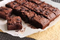 No butter brownies from  scientifically sweet.  To make it healthier you can use sugar substitutes like apple, pear, stevia..