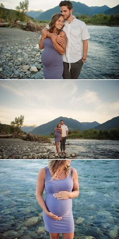 Tanis Katie Photography // Maternity Photos, Maternity Photos at the river, Vedder River, Chilliwack, Photos at the water