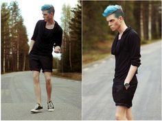 Robbie Blue hair