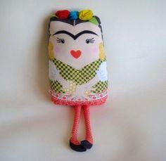 Frida Kahlo handmade doll