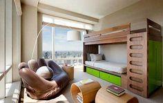 Habitaciones para niños y adolescentes, muebles compactos y multifuncionales, decoración - copia