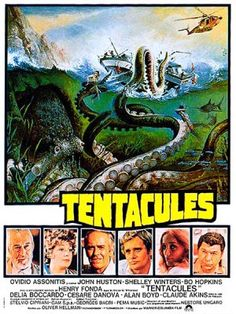 """MP1086. """"Tentacoli"""" French poster by Jean Mascii (Ovidio G. Assonitis 1977) / #Movieposter"""