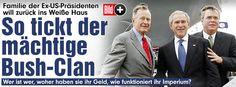 Das Bush-Imperium in den USA. Nach George H.W. Bush. George W. Bush soll jetzt Jeb Bush US-Präsident werden.