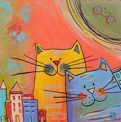 ilustraciones de gatos pinterest - Buscar con Google
