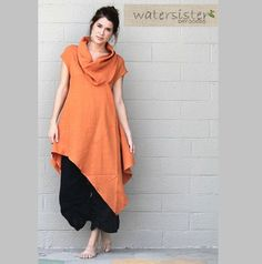 ● Bryn Walker made in San Francisco. BRYN WALKER clothing is cut and sewn, and then dyed in batches. Boho Fashion, Womens Fashion, Fashion Design, Natural Fiber Clothing, Beautiful Outfits, Cute Outfits, Mode Hippie, Linen Dresses, Designer Wear