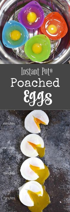 Now you can have Instant Pot Poached Eggs, hot and ready to serve in 2, 3, 4, or 5 minutes. They are super simple to make in individual silicone cups | cookingwithcurls.com