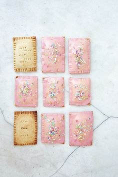 homemade pop tarts  make sleeping bags that look like these!! Some w striped icing. always keep a few in these that has other dessert furniture