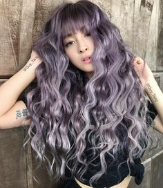 """Guy Tang® on Instagram: """"#Metallic #Violet on my HairBestie @emilythemermaid with custom colored weaves by @bellamihair using our favorite silver metallic and Violet booster prelighten hair @kenraprofessional"""""""
