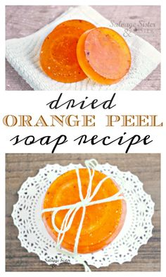 DIy - Craft : Dried orange peel soap recipe is a great way to use up orange peels. Orange is a great scent to brighten or start anyones day. Create this soap with this full tutorial. Fun present to gift anytime of the year. Orange Peel Candle, Dried Orange Peel, Dried Oranges, Dried Orange Slices, Orange Peels Uses, Orange Craft, Diy Orange Soap, Homemade Soap Recipes, Orange Recipes